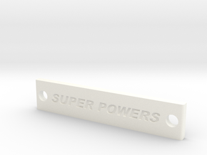 Super Powers Battery Strap in White Processed Versatile Plastic