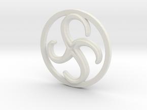 Anti-Clockwise Metamorphosis in White Natural Versatile Plastic