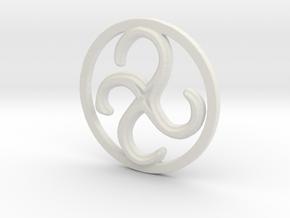 Clockwise Metamorphosis in White Natural Versatile Plastic