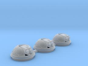 Bubble Canopy Gun Fleur de Lis - 3 Pack in Smooth Fine Detail Plastic