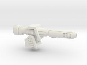Mortar Cannon for PotP Outback(Articulated!) in White Premium Versatile Plastic