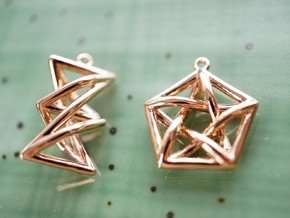 Forbidden Subgraph Earrings in 14k Rose Gold Plated Brass