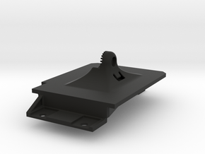 Cherokee XJ Phone Mount Back Plate - w Aux In Hole in Black Natural Versatile Plastic