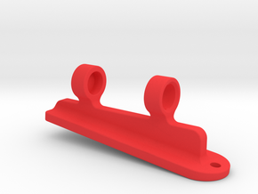 6 degree Pinball Playfield Spirit Level in Red Processed Versatile Plastic