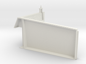 HOF081 - Upper counterscarp wall in White Natural Versatile Plastic