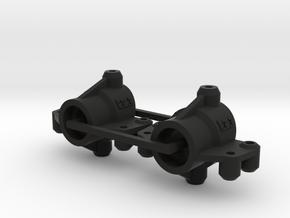 Kyosho Maxxum FF Rear Knuckles For Tamiya Shaft in Black Natural Versatile Plastic