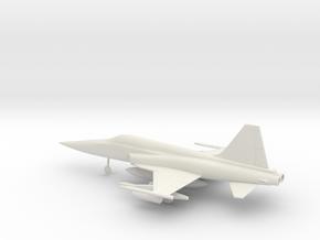 Northrop F-5E Tiger II in White Natural Versatile Plastic: 1:72