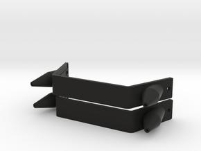 Pair of Toe Plates & Spikes CABoots ESB in Black Premium Versatile Plastic