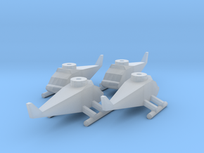 Helicopter (4x) in Smooth Fine Detail Plastic