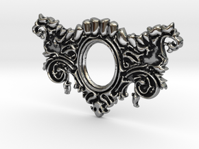 Mandibula Pendant in Antique Silver