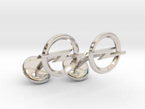 Opel Cufflinks in Rhodium Plated Brass
