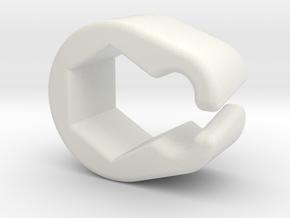 Pinball Hexagonal Post Cable Restraint (V4) in White Premium Versatile Plastic