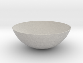 Hexagons Bowl (downloadable) in Natural Full Color Sandstone