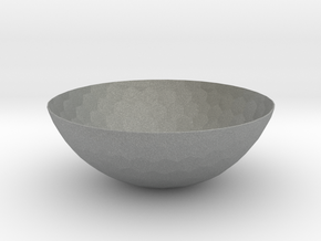 Hexagons Bowl (downloadable) in Gray PA12