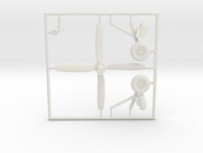 AD5-144scale-tarmac-8-whiteparts-2 in White Natural Versatile Plastic