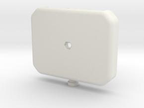 Hub - Enclosure Btm in White Natural Versatile Plastic