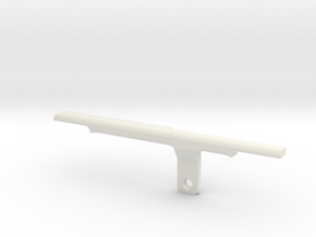 ThumbRail -Bridge-fits Fender Amer Dlx Jazz 4 in White Premium Versatile Plastic