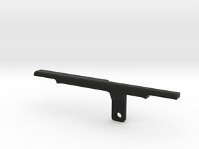 ThumbRail -Bridge-fits Fender Amer Dlx Jazz 4 in Black Premium Versatile Plastic