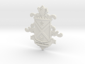 Black Family Crest in White Premium Versatile Plastic