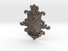 Black Family Crest in Polished Bronzed-Silver Steel
