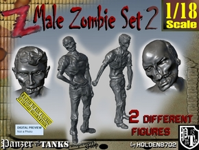 1-18 Male Zombie Set2 in White Natural Versatile Plastic