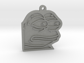 Pepe the Frog monkaS Meme Keychain in Gray PA12