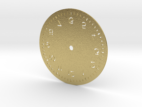 Numbered Dial in Natural Brass