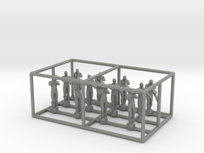 1/144 Standing Observers (Entente) in Gray PA12