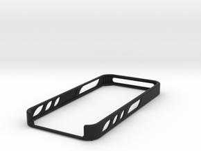 iphone 5 basic bumper in Black Premium Versatile Plastic