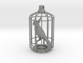 Parrot Charm in Gray Professional Plastic