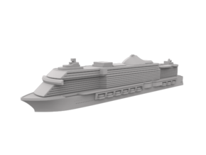 Miniature MSC Seaside Cruise Ship - 10cm in Smooth Fine Detail Plastic