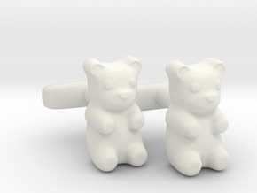 Gummy Bear Cufflinks in White Natural Versatile Plastic