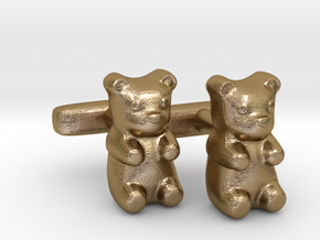 Gummy Bear Cufflinks in Polished Gold Steel