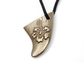 FIN - Hawaii in Polished Bronze Steel