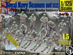 1/125 Royal Navy Seamen Set112 in Smooth Fine Detail Plastic