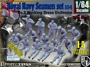 1/64 Royal Navy Seamen Set 104 in Smooth Fine Detail Plastic