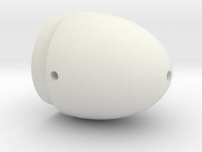 torpedo Article Head in White Natural Versatile Plastic