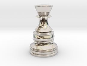 Wazir-Rider (Rook) - [1,0] Classic in Rhodium Plated Brass