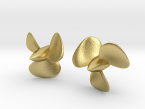 1/150 HMS Hood Brass Propellers x2 (Port&Star) in Natural Brass