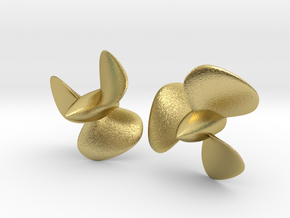 1/96 HMS Hood Brass Propellers x2 (Port&Star) in Natural Brass
