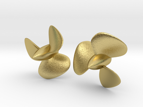 1/72 HMS Hood Brass Propellers x2 (Port&Star) in Natural Brass
