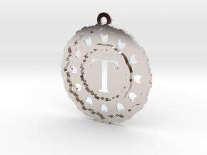 Magic Letter T Pendant in Platinum
