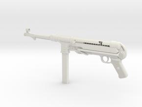 MP40 1/4th Scale  in White Natural Versatile Plastic