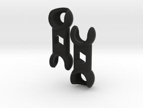 'Free-range' ForeArm Set for ModiBot  in Black Premium Versatile Plastic