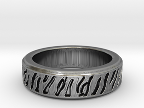Tiger stripe ring multiple sizes in Antique Silver: 5 / 49