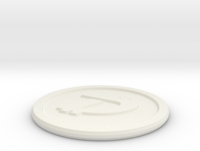 DigiByte Coin in White Natural Versatile Plastic