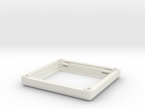 "Matrix Orbital 3.5"" Smooth Bezel Mount (Rev1.0) in White Natural Versatile Plastic"