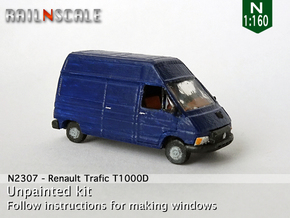 Renault Trafic T1000D (N 1:160) in Smooth Fine Detail Plastic