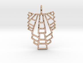 trap pendant in 14k Rose Gold