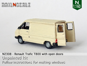 Renault Trafic T800 with open doors (N 1:160) in Smooth Fine Detail Plastic